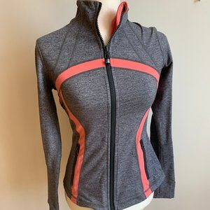 LULULEMON gray pink sz 6 activewear sweater jacket